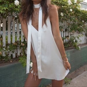 ARE YOU AM I White Zillah Dress XS